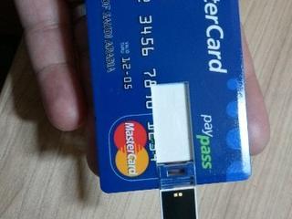 Флешки - Кредитная карта 16 Гб USB 2.0 Memory флэш-накопител