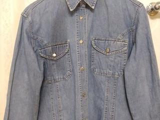 Мужская новая джинсовая рубашка. Произв-во: США. Практичная. Размер: 48-50