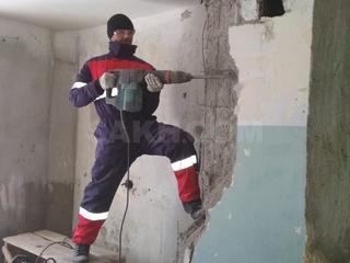 Бетоновырубка алмазная резка бетона стен перегородок перепланировка!!!