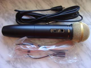 Новый Микрофон JVC PEAC04, Wireless Dynamic Microphone, WIRE & FM