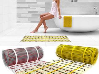 Электрический мат кабель на сетке теплый пол под плитку Осенние Скидки