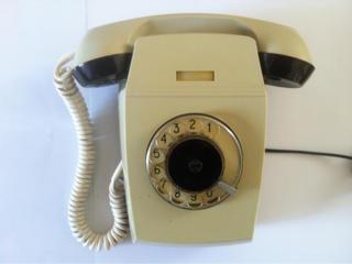 Телефон ретро настенный, дисковый