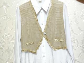 Новая белая женская блузка с жилетом. Производство Венгрия. Размер: XL