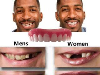 Протез зубов, ровные белые зубы, для улыбки