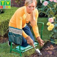 Скамейка подставка стульчик для колен для дачи для прополки складной