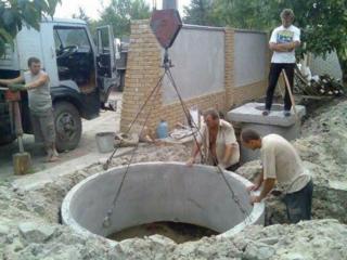 Бетонные кольца доставка копаем вручную и техникой канализация траншеи бетоновырубка