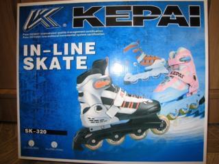 """Коньки роликовые """"Kepai-SK320L"""", размер 36-39 - 399 рублей."""