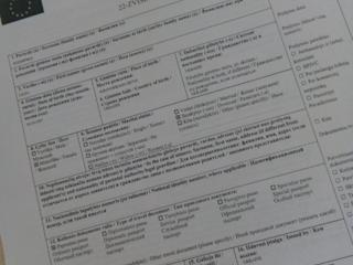 Заполнение визовой анкеты