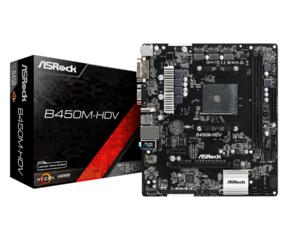MB ASRock B450M-HDV R4.0 / mATX / AM4 / DDR4 /