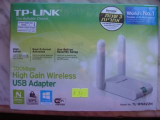 TP-LINK TL-WN822N Беспров. сетевой USB-адаптер повышенной мощности