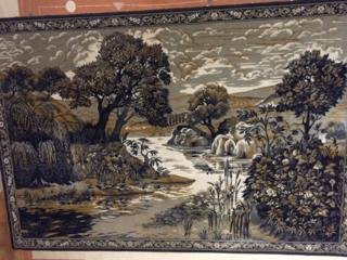 Шерстяной ковёр с пейзажем