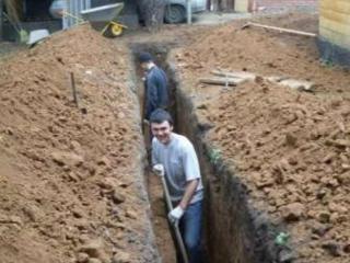 Копаем канализации! Траншеи! Сливные ямы! Септики! Быстро есть кольца!
