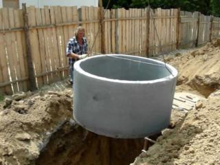 Бетонные кольца для канализации доставка установка канализация водоснабжен