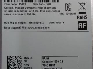 "Продам HDD SATA 3.5"" Seagate 500 Gb."