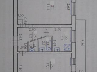 Двухкомнатная квартира 45 м. 2., ул. Победы 21, 4-ый эт. 10000$. Обмен