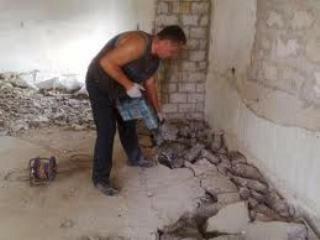 Монтаж и демонтаж полов, демонтаж бетонной стяжки, алмазное сверление отверстий