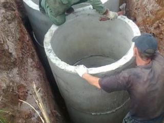 Копаем канализации траншеи сливные ямы септики водопровод есть кольца!