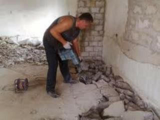 Монтаж и демонтаж полов демонтаж бетоной стяжки алмазное сверление отверстий