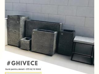 Ghivece pentru flori din ciment, vazoane, горшки для цветов из бетона