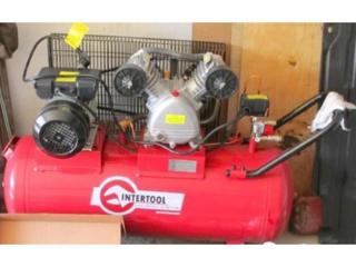 Компрессор INTERTOOL 100 л, 3 кВт, 220 В, 8 атм, 500 л/мин, 2 цилиндра