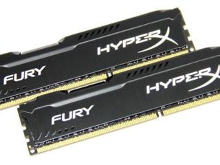 Продам две планки по 4 гБ HYPERX FURY 1600 мГЦ HX316C10FB/4= 8ГБ