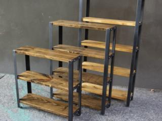 Мебель в стиле LOFT (металл+дерево): стеллажи, полки, столы!