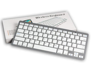 Беспроводная Bluetooth (блютуз) клавиатура UKC BK3001 (X5) Silver