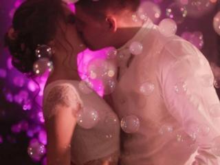 Спецэффекты для первого свадебного танца!