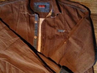 Рубашка мужская подростковая, хлопок, размер S-M