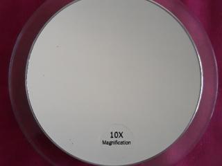 Увеличивающее зеркало для макияжа. 10х