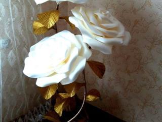 Большие цветы из фоамирана для торжеств и пр.