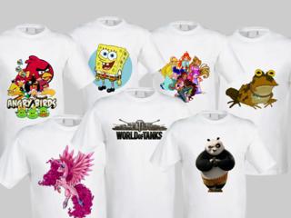 Печать на футболках, майках, куртках, сумках. Фотошторы!!!