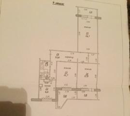 3 комнатная на Шелковом с автономным отоплением в китайской стене