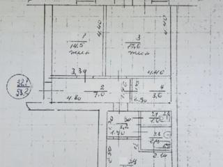 """Двухкомнатная 60 м2., пер. Промышленный №4 (мкр. """"Южный""""), 3 этаж/3"""