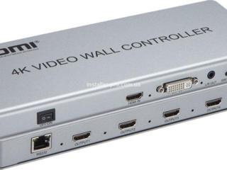 Контроллер видеостен 2X2 4K HDMI / DVI