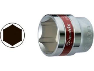 Головка торцевая, 30 мм, 6-гранная, CRV, под квадрат 1/2