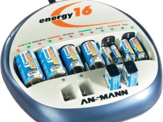 Зарядка аккумуляторных батареек Ansmann Energy 16