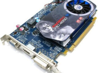 Видеокарты ATI RADEON HD 4650,GF 210, GT 9400, HD 3850, VGA, HDMI, DVI