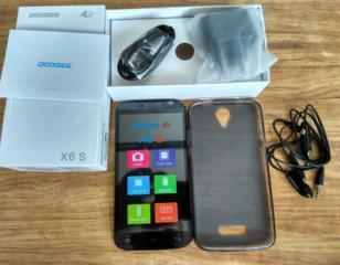 Новый Doogee X6S, 2 SIM, 4G, HD 5.5', 8/1GB, гарнитура, чехол -1100л.