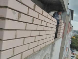 Бельцы ремонт кладка балконов из пеноблоков газоблоков кирпича стяжка