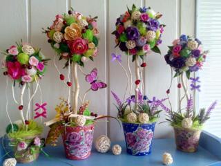 Оригинальные подарки из искусственных цветов, кофейные, конфетные