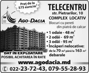 Ago-Dacia. Telecentru. Str. Pietrarilor, 10. Complex locativ (4 blocuri). Dat