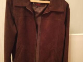Новая куртка, натуральная замша, весна- осень, размер L,