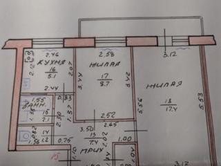 2-комнатная квартира с ремонтом, 41,6 м2, 4/5 этаж, Балка
