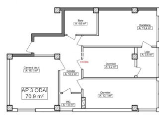 Vinzare. Bloc Nou!  Apartament cu 3 odai - Mircea cel Batrin!