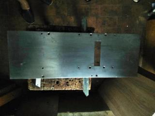 """Плиты деревообрабатывающего станка """"УБДН-2"""". Нержавейка. Толщина 3 мм"""