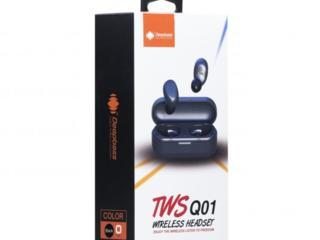 Наушники Bluetooth (блютуз) DeepBass TWS Q01 Black