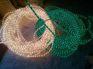 Гирлянда новогодняя уличная светодиодная электрическая