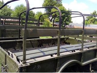Кузов демонтированный с автомобиля ГАЗ-66, металлический, с откидными