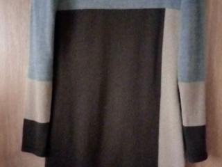 Платье тёплое трикотажное 48 р.